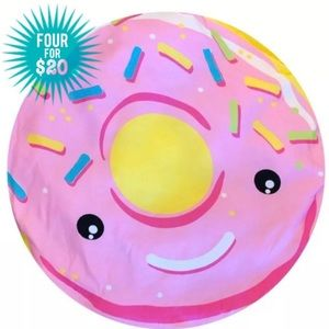 """Other - Sprinkled Donut Dog Bed Round Pillow 22"""" NWOT"""